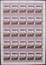 LMS Coronation Class CITY OF GLASGOW Train 50-Stamp Sheet (Leaders of the World)