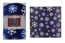 Holiday Time Plush Throw Christmas Blue Snowflake 50 x 60 inches Blanket