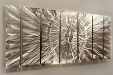 Modern Silver Metal Abstract Wall Art Home Decor - Eye of the Storm by Jon Allen