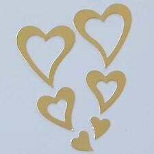 PK 10 oro anidado San Valentín corazones embellisment Die Cortes PARA TARJETAS O MANUALIDADES