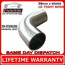 "38mm (1 1/2"") 90 degree tight 1D t304 stainless exhaust mandrel bend tube pipe"