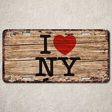 LP287 I Love New York Wood Vintage Auto Car License Plate Wedding Decor Sign