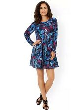 BNWT��MONSOON �� Size 16 Gilly Navy Floral Tunic Short Dress (44EU) Flared New