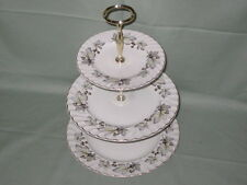 Vintage H. Aynsley 3-Tier China Hostess Cake Plate Stand   (Hops Pattern?)