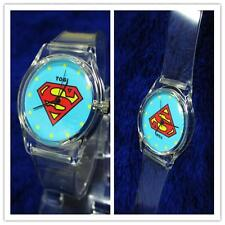 FAS~ION PLASTIC NEW SUPERMAN BOYS GIRLS MENS WOMENS KIDS WRIST PLASTIC WATCH S~