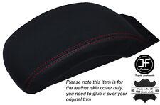 Rojo De Cuero Cosido Apoyabrazos Tapa Skin Tapa se ajusta Citroen C4 Mk2 2011-2014