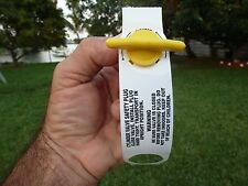 Propane Tank  Plug Cap Safety Plus Plastic Warning Label Tag Brand New.........