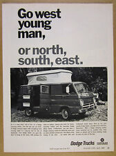 1968 Dodge Camping-Combo Camper Van pop-up roof photo vintage print Ad