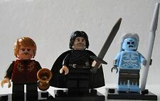 Game Of Thrones White Walker,John Snow,Tyrion Lannister Custom Lego Mini Figures