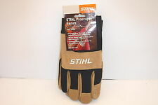 STIHL 7010 884 1101 PROSCAPER SERIES BOARSKIN GLOVES LARGE NEW