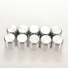 10X Aluminum Knobs Rotary Switch Potentiometer Volume Control Pointer Hole 6mm F