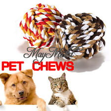 New Fashion Pet Puppy Rope Dogs Cottons Chews Toy Ball Play Braided Bone Knot E