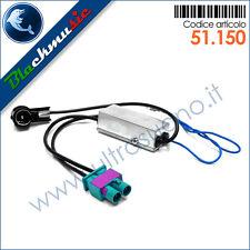 Adattatore antenna autoradio doppio FAKRA-ISO per VW Polo 5 (6R 2009-2014)