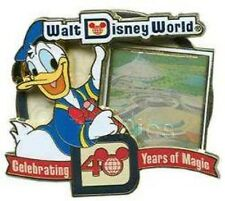 Disney LE Pin AP DONALD DUCK WDW 40TH ANNIVERSARY TOMORROWLAND Space Mountain