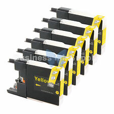 6 YELLOW LC71 LC75 Compatible Ink Cartridge for Brother LC75Y HIGH YIELD LC71Y