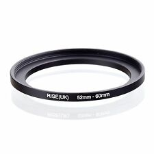 RISE(UK) 52mm-60mm 52-60 mm 52 to 60 Step Up Ring Filter Adapter black