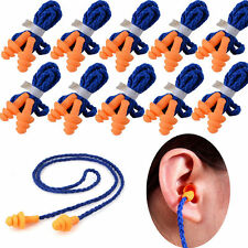 10 Pair/Lot Reusable Soft Silicone Corded Ear Plugs Hearing Protection Ear Plugs