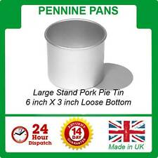 """Large Stand Pork Pie Tin / Mould 6"""" With Loose Bottom Pennine  Pans mold"""