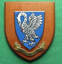 Old University College Alumni School Fortis Fidelis Crest Plaque Shield Belfast