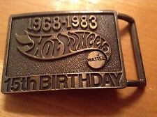Vintage HOT WHEELS Belt Buckle 1968-1983 Anniversary By MATTEL
