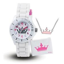TIKKERS GIRLS STUNNING GLITTER CROWN PRINCESS THEME WATCH, PURSE & NECKLACE SET