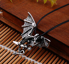 Men's Flying Dragon Sword Titanium Stainless Steel Pendant Necklace Gift CA IN