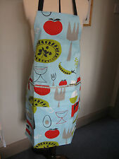 Peas & Carrots ADULT APRON blue orange red green male man female woman
