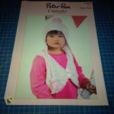 Peter Pan Knitting Pattern Children's Clothing Waistcoat and Hat P1044