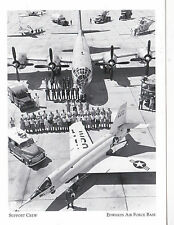 "*Postcard-""B-50 & Launch/Support Crew""-for Test Flight- *Edwards Air Force (#111"