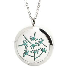Dandelion LOVE Aromatherapy Essential Oil Diffuser Locket Necklace Women Pendant