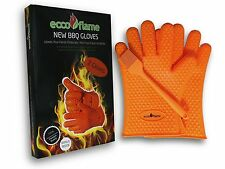 Eccoflame Silicone Cooking Gloves - Heat Resistant Oven Mitt for Grilling, BBQ