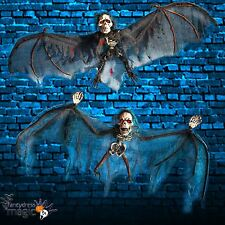 *Halloween Hanging Skull Skeleton Horror Bat Shop Display Party Decoration Prop*