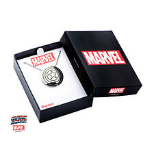 Marvel CAPTAIN AMERICA SYMBOL CHAIN NECKLACE Stainless Silver SHIELD Cosplay