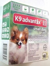 NEW K9 Advantix II For Small Dogs 4-10 lbs (4 pack) EPA Approved Free Shipping