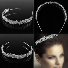 New Women Elegant Bride Jewelry Flower Leaf Hair Accessory Headband Crown Tiara