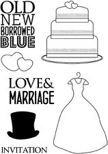Crafty Impressions CLEAR STAMPS A6  Love and Marriage CICSA6038 Wedding Dress