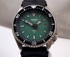 Seiko 'Green Diamond' Submariner Automatic Scuba Diver's Date Watch Custom 7002