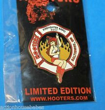 Hooters Firefighter Expo 2007 Baltimore MD Maryland Girl On Fire Pole Lapel Pin