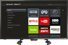 "Sharp - 32"" Class (31.5"" Diag.) - LED - 1080p - Smart - HDTV - Roku TV - Black"