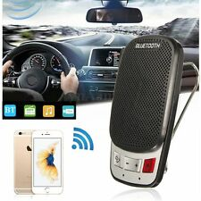 Portable Slim Wireless Bluetooth Handsfree Car Kit Speaker Phone Sun Visor Clip
