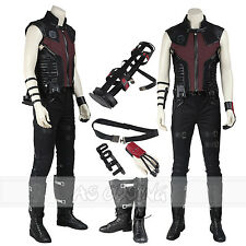 Captain America Civil War Clint Barton Hawkeye Cosplay Costume+Shoes