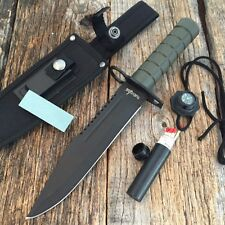 "12.5"" RAMBO Bayonet Military Survival Kit Tactical Combat Hunting Knife BOWIE GN"