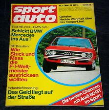 Sportauto 03/74 GP Brasilien,Rekord der Rekorde:Blue Flame,Audi 80 GT rallyetau