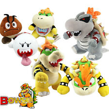 6x Super Mario Bros King Dry Bowser Koopa Jr. Koopa Soft Toy Plush X'mas Doll