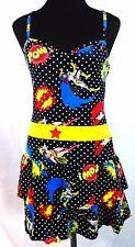 DC Comics Original Comic Con Medium Batgirl Wonder Woman Supergirl Mini Dress A3