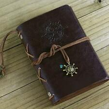 Vintage Classic Retro Leather Journal Travel Notepad Notebook Blank Diary E TR
