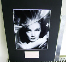 MARLENE DIETRICH THE BLUE ANGEL AUTHENTIC SIGNED AUTOGRAPH DISPLAY UACC