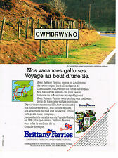 PUBLICITE ADVERTISING  1991   BRITTANY  FERRIES