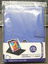 "TUCANO FACILE FOLIO STAND UNIVERSAL FOR 9""/10"" TABLET (BLUE) - TAB-FA10-B"
