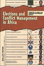 Elections and Conflict Management in Africa (Technology Series; 4)